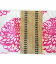 Pink Dahlia with Black Center Jute Strap