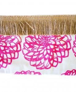Pink Dahlia with Fringe