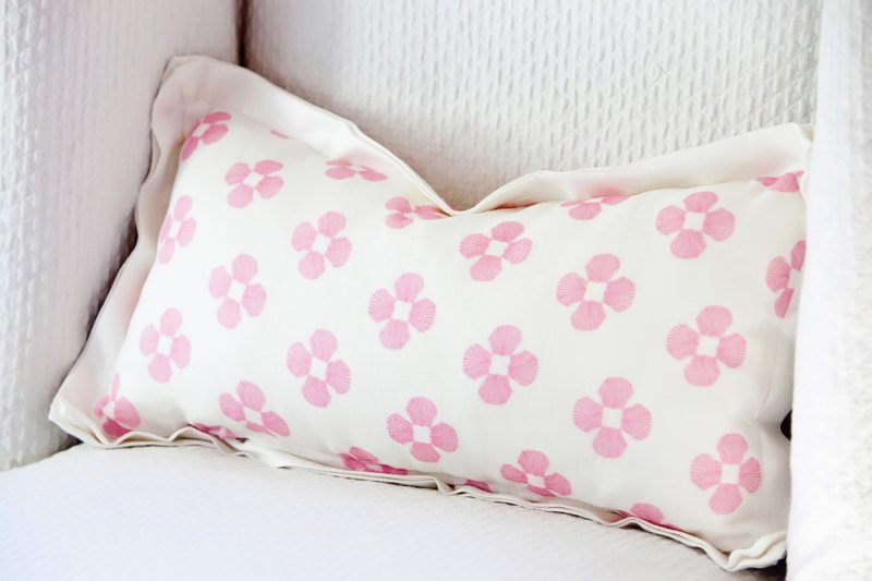 Small Pattern on 10 in. x 20 in. Pillow
