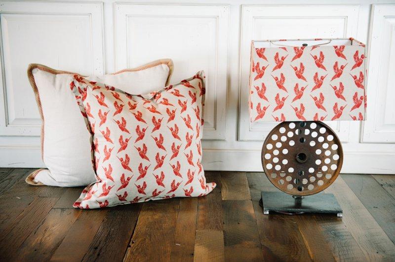Coordinating Pillows and Lamp Shade