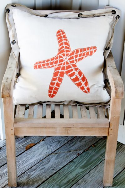 Large Pattern on 24 in. x 24 in. Pillow