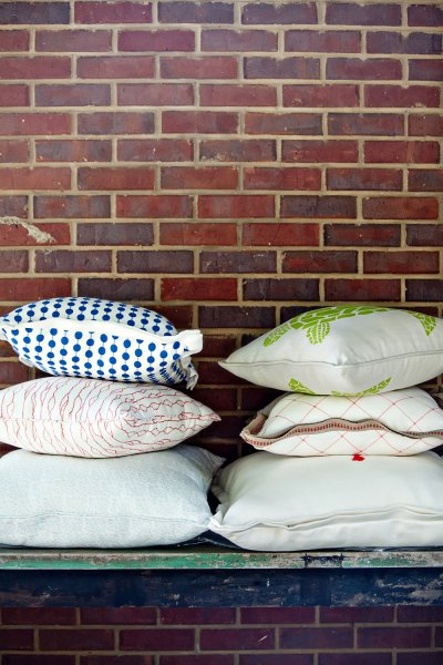 Stack of Various Pillow Designs